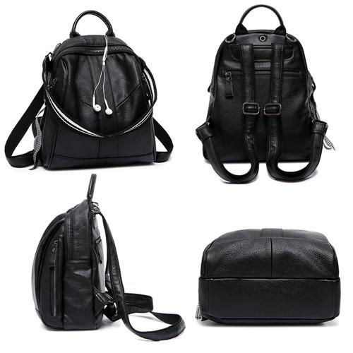 LUISE Brand Women's Real Leather Backpack Designer Ladies Backpack Korean School Back Bags Fashion Bookbag Back Pack Femininas