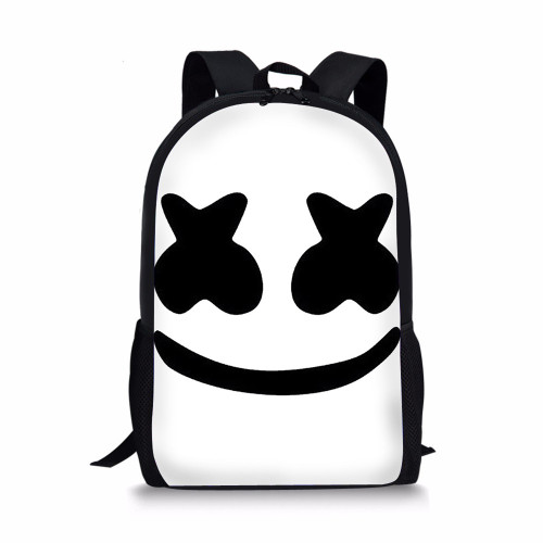 Noisydesigns marshmello fashion backpack boys schoolbags child mochila bag kids back pack infantil school bags small dj helmet