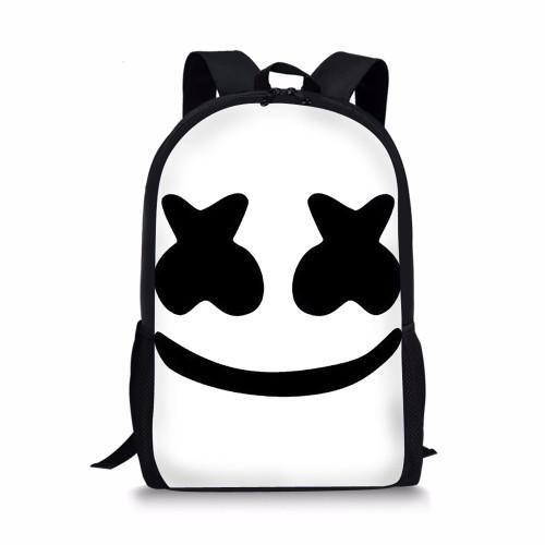 Noisydesigns marshmello fashion backpack boys schoolbags child mochila bag kids back pack infantil school bags small dj helmet
