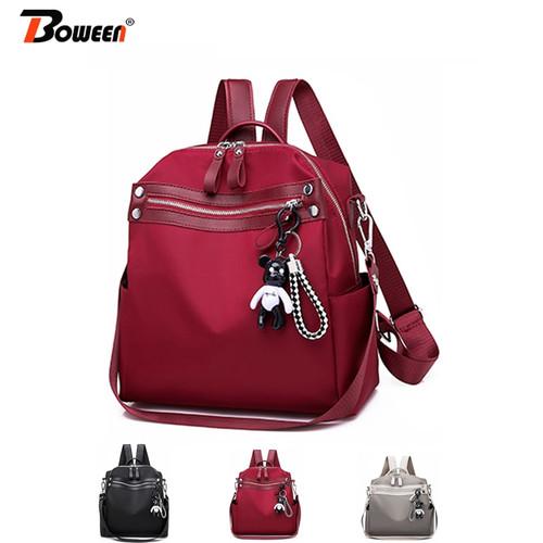 Oxford Backpack Women Fashion Black Back Pack Female Small Bagpack for Teenager Girl gift Multifunction Back Bag 2019 Sac A Dos