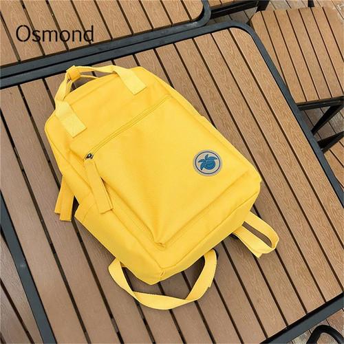 Osmond 2018 Women Yellow Back Packs Feminine Canvas Backpack For Teenager Girls Casual Travel Mochila Satchel School Bags Female