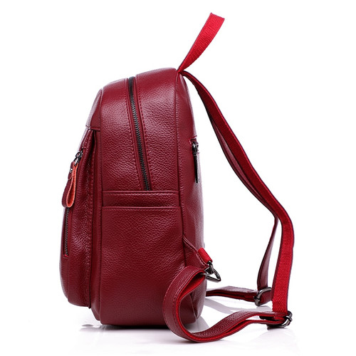2018 Women Leather Backapcks For Girls Sac a Dos Preppy School Bags Vintage Travel Bagpack Ladies Mochilas Female Back Pack Lady