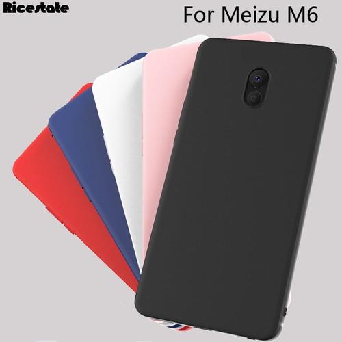 For Meizu M6 cover Silicone case Meizu M6 mini Frosted matte solid colors Soft silicone Case