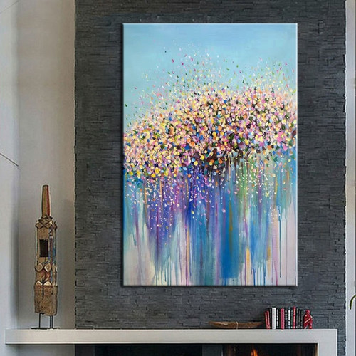 Fashion Wall Painting Hand-painted Abstract Colorful Graffiti Oil Paintings on Canvas Handmade Home Decor Art Pictures Gifts