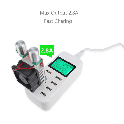 8 Port Smart USB Charger Hub with LCD 40W Multi-Port USB Charging Station USB Wall Travel Charger for Smartphone Tablets