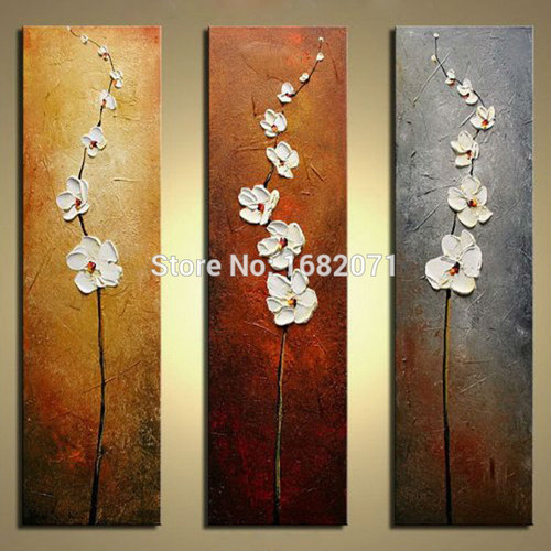 Hand-painted High Quality Abstract Flower Oil Painting On Canvas Handmade Impression Flowers Oil Painting For Hotel Decoration