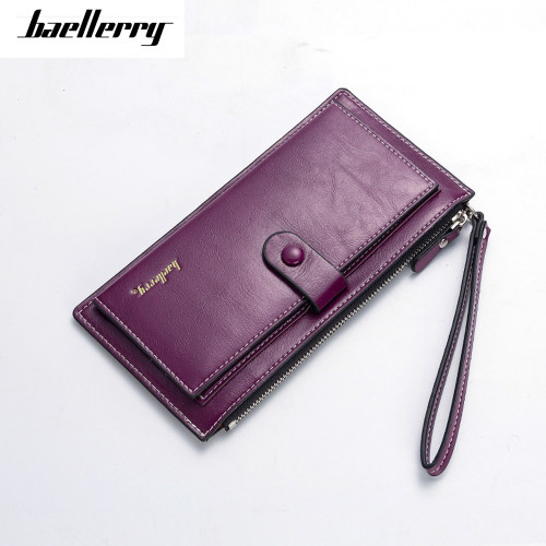 Baellerry Brand Women Long PU Leather Wallet Dollar Price Carteira Clutch Coin Purse Female Wristlet Hand Bag Card Holder