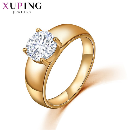 Xuping Christmas Luxury Ring Popular Design Charm Style Girl Women Gold Color Plated Jewelry Valentine's Day Gift 10534