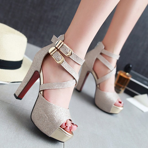 2019 Summer New Arrival Bling High-heeled Women's Fashion Sandals