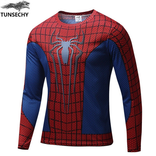 TUNSECHY Wholesale and retail 2017 captain America manufacturers sell fashion round neck long sleeve T-shirt