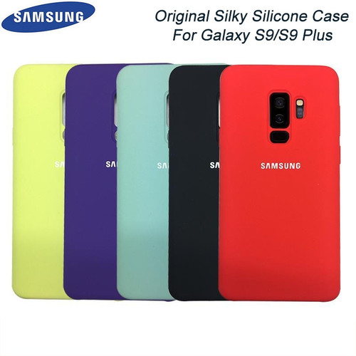 Original Samsung Galaxy S9/S9 Plus Liquid Silicone Case Silky Soft-Touch Finish Back Protective Cover For Samsung S9+ Phone