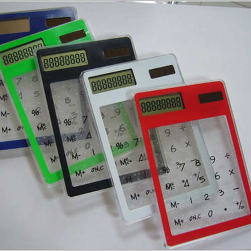 Centechia 8 Digit LCD Touch Screen Ultra slim Transparent Solar CalculatorStationery Clear Scientific Calculator Office