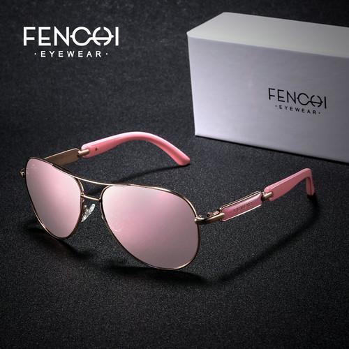 FENCHI Sunglasses Women Metal Hot Rays Glasses Driving Pilot Mirror Fashion Men Design New Sunglasses High Quality