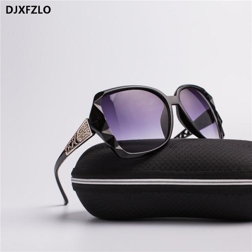 DJXFZLO 2018 New Large Frame Designer Sunglasses Women's High Quality Fashion Mirror Sunglasses Women's Brand UV400