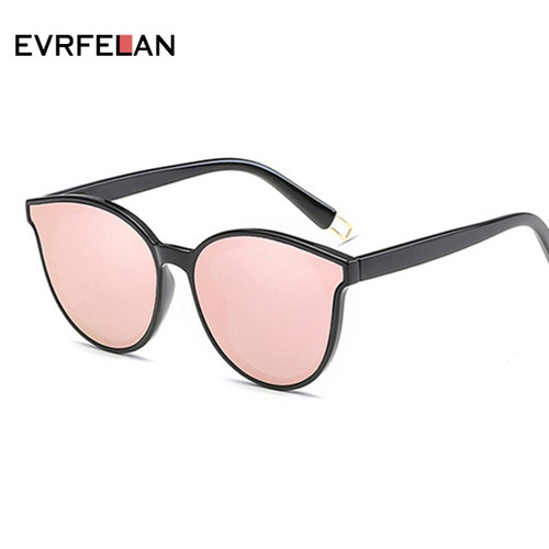 New High Quality Sunglasses Women Cat Eye Sun Glasses Fashion Mirror Eyewear Vintage Glasses Oversized Women oculos de sol