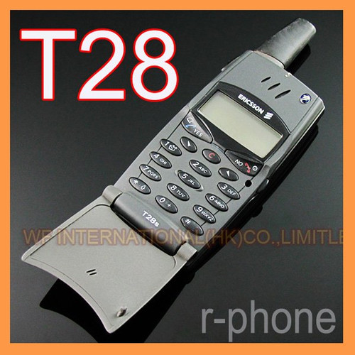 Refurbished Original Ericsson T28 T28s Mobile cell Phone 2G GSM 900/1800 Unlocked Black & Can't use in USA