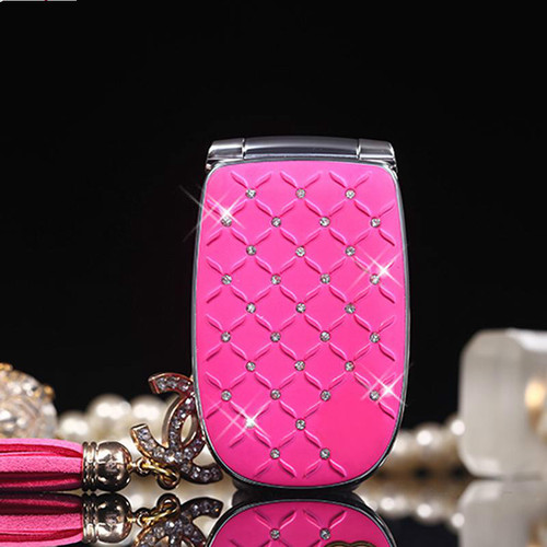 Unlocked Flip Phone W11 Russian Keyboard Lovely Diamond Small Women Kids Girls Diamond Cute Mini Mobile Cell Phones