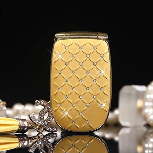 Unlocked Flip Phone W11 Russian Keyboard Lovely Diamond Small Women Kids Girls Diamond Cute Mini Mobile Cell Phones