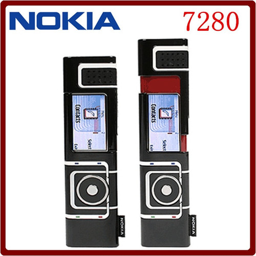 Original Unlocked Nokia 7280 Flip Cellphone GSM Mobile Phone Removable Li-Ion 700mAh FM Radio Refurbished Phone