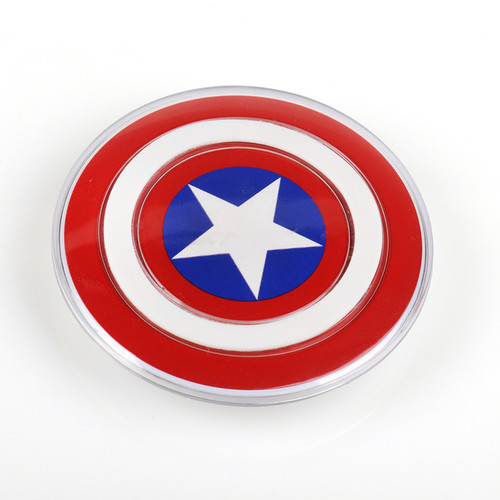 SCELTECH Avengers Universal QI Wireless Charger for iPhone X 8 Samsung Galaxy S7 S6 S8 edge Captain America Shield Charging Pad
