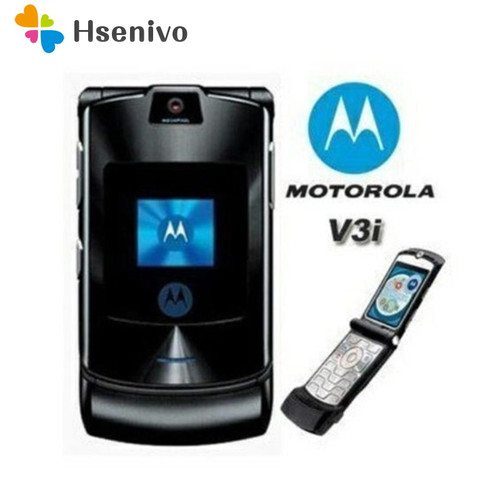 100% ORIGINAL Motorola RAZR V3i UNLOCKED Mobile Phone GSM Flip Bluetooth Phone One Year Warranty Free shipping