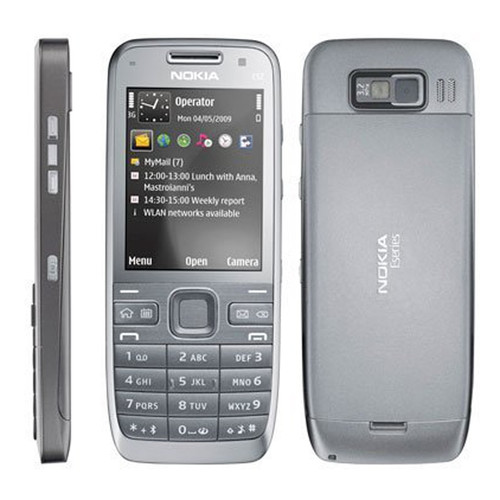 100% Original Nokia E52 Mobile Phone 3G Wifi Unlocked Russian Keyboard Arabic Keyboard E52 Cellphones