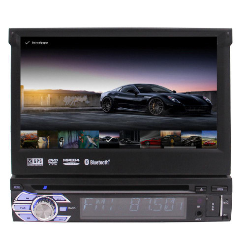 "Eincar 7"" Android 6.0 Flip Out Car DVD Stereo Radio single din 1DIN 4Core Unit Player car styling in dash GPS NAV support wifi"