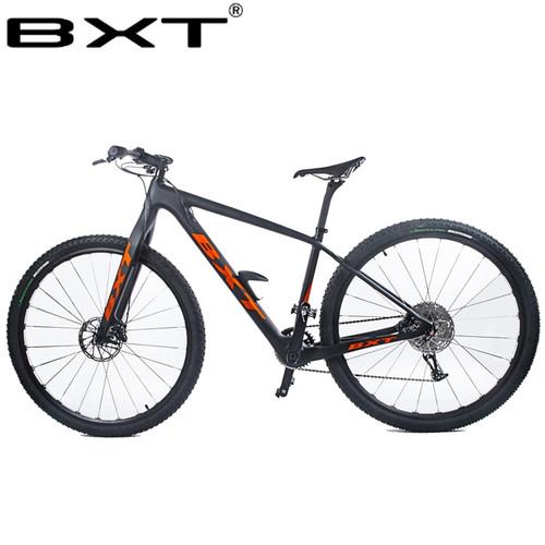 "BXT 29inch carbon fiber Mountain bike 1*11 Speed Double Disc Brake 29"" MTB Menbicycle 29er wheel S/M/L frame complete bike"