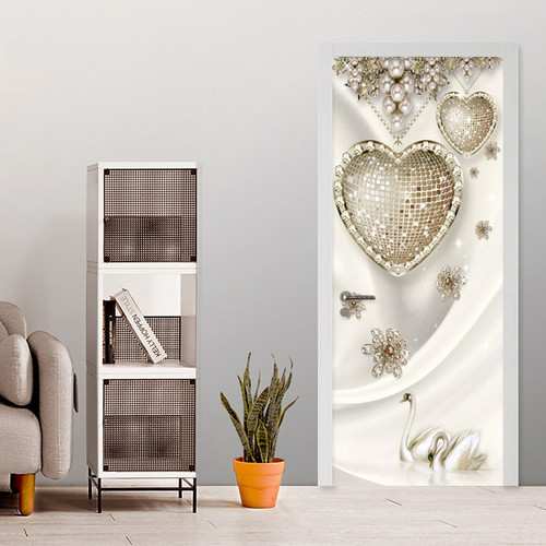 Modern 3D Stereo Jewelry Diamond Photo Murals Wallpaper Living Room Bedroom Luxury Home Decor Door Sticker PVC Wall Papers 3 D
