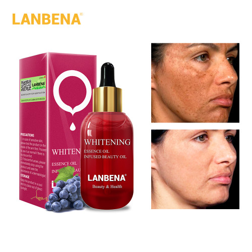 LANBENA Whitening Face Essence Oil Vitamin C Serum Remover Speckle Fade Dark Spots And Firming Face Serum Anti Wrinkle Skin Care