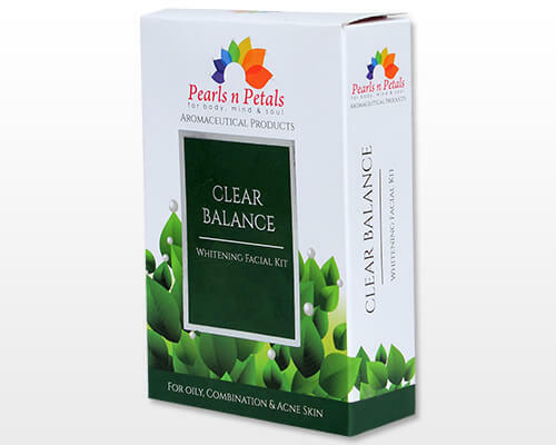 2Pcs Pearls n Petals Clear Balance 5 in 1 Whitening Facial Kit