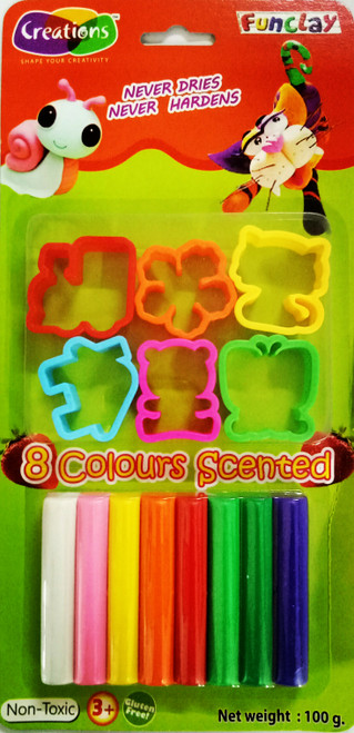 Funclay clay toy art clay set for kids by Creations 100 gms