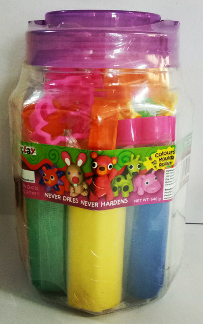 Funclay clay toy art clay set for kids by Creations 640 gms