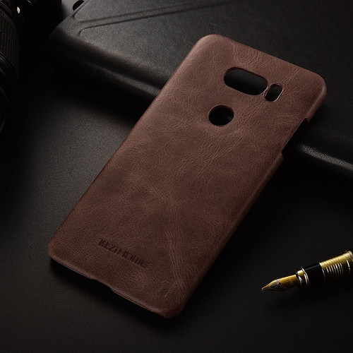 for LG V30 / V30 Plus case KEZiHOME Frosted Genuine Leather Hard Back Cover capa For LG V30 V30+ 6.0'' Phone cases