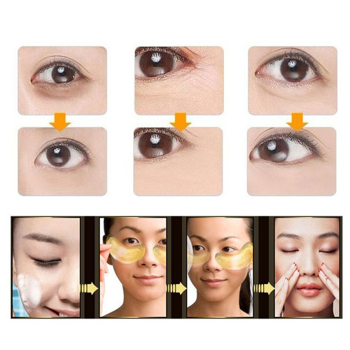 Gold Crystal Collagen Eye Mask Eye Patches Eye Mask For Face Care Dark Circles Remove Gel Mask For The Eyes Ageless 10pcs=5packs