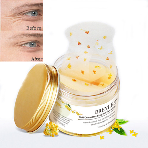Gold Osmanthus Fragrans Eye Mask women Collagen Gel Eye Patch Face care sleep patches health Anti-Aging dormir Serum 50pcs