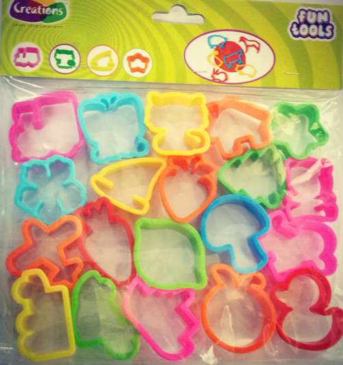 Funtools tools toy art tools set for kids by Creations 20 Pcs Set Cutter Molds