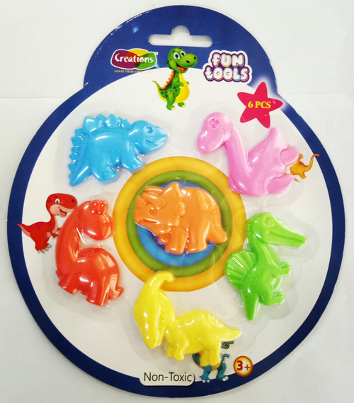 Funtools tools toy art tools set for kids by Creations 6 Pcs Dinosaur Set