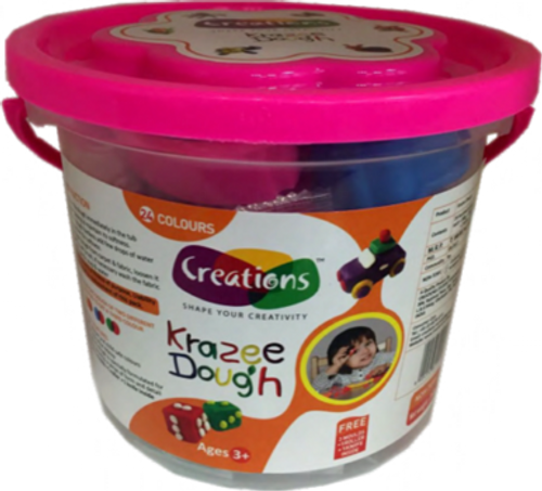 Krazee Dough toy art Dough set for kids by Creations 360 gms