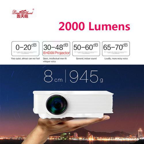 GP 9 2000 lumens Mini Projetor Full HD 1080P Portable USB Cinema Home Theater Pico LCD Video LED Projector Beamer GP-9 Proyector