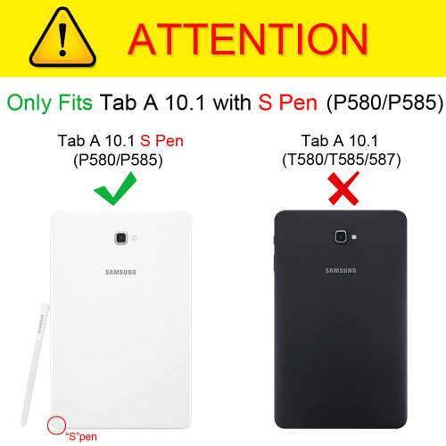 Case For Samsung Galaxy Tab A A6 With S Pen 10.1 2016 SM-P580 P585 PU Leather Smart Tablet Cover For Galaxy Tab A 10.1 S Pen