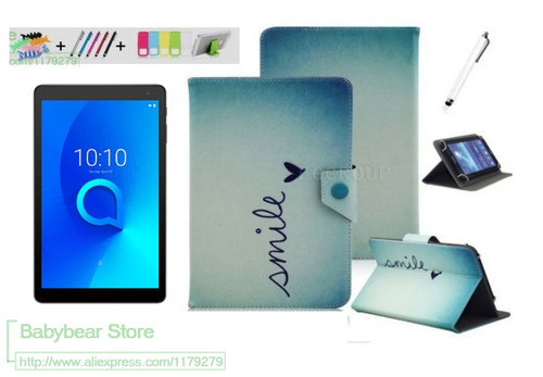 "For Alcatel 1T 10"" Tablet Tablet PC 10.1 inch case Funda Shell Durable Protector Universal Tablet PU Leather cover"