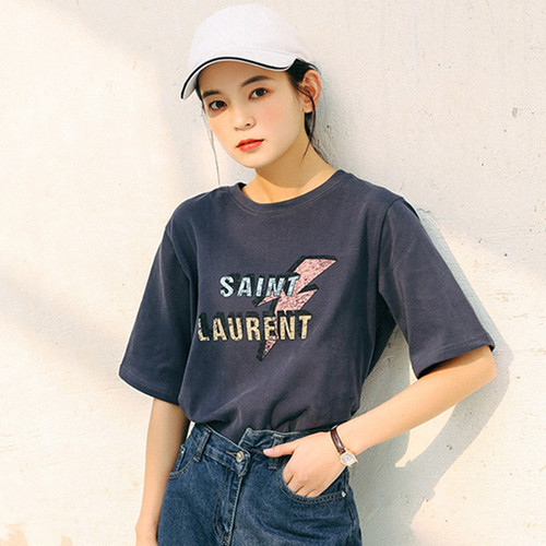 Female Summer O-Neck Short Sleeve Cotton T-Shirts Women Fashion Letter Print Loose Tees Casual Brand TShirt Harajuku Tops JQ489