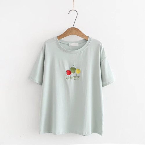 2018 New Women T-shirts Casual Summer Short Sleeve Female T shirt Women Clothing Cotton O-neck