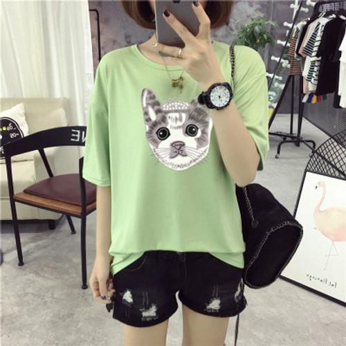 DZ Summer Short Sleeve T-Shirt Girls Casual Tops Tee R566