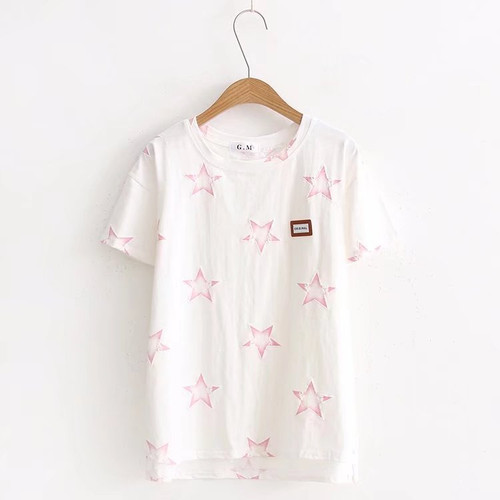 2019 New T Shirt Women Short Sleeves T Shirts Summer Cotton T-shirt Plus Size