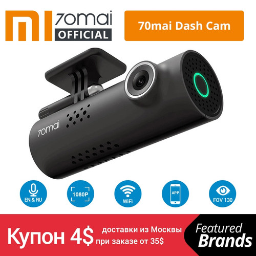 Xiaomi 70mai Car DVR English Voice Control Cam 1080HD Night Vision Dash Cam Wifi 70 mai Car Camera Auto Recorder G-sensor