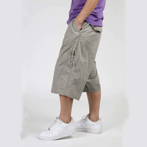 Summer Hip Hop Harem Mens Cargo Shorts Water-washed Cotton Thin Wide Leg Loose Boardshorts Casual Beach Short Plus SizeXL- 6XL