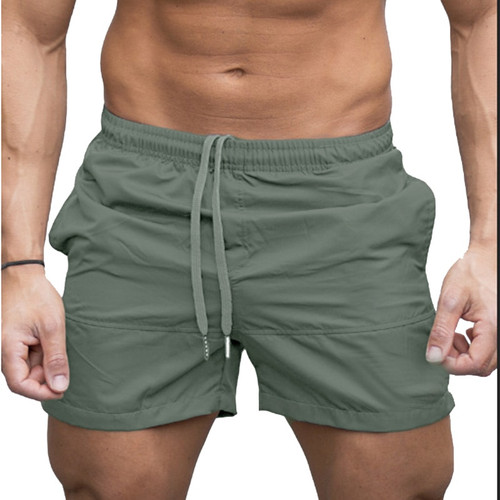 Adjustable Boardshorts Men's Shorts Brief Breathable Men Sports Suit Short Pants Swim Gym Fitness Solid Color Summer Beach Surf
