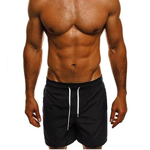 Men Beach Shorts Sport Adjustable Flex Boardshorts Fitness Surfing Gym Swim Briefs Summer Swim Trunk Short Pants Swimwear 0.2
